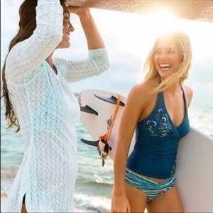 Athleta Waterlily Swim Halter Bikini Top